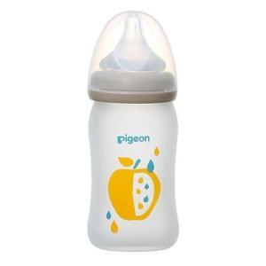 Pigeon(ピジョン) 母乳実感 哺乳びん Coating(耐熱ガラス製) fruits柄 160...