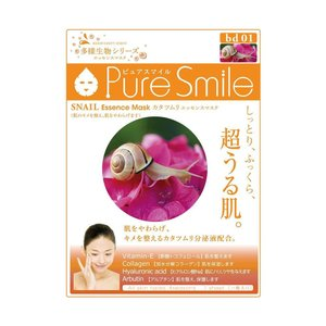 PureSmile(ピュアスマイル)  エッセンスマスク 多様生物シリーズ 30枚セット カタツムリ...