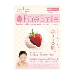 PureSmile(ピュアスマイル)  エッセンスマスク ミルクシリーズ 30枚セット いちごミルク...