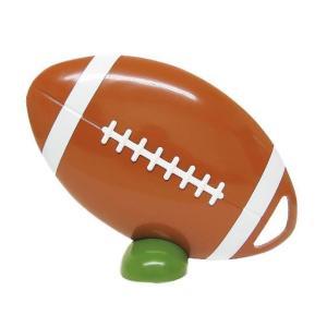 ビッグウエディングスプーン 趣味のシリーズ ラグビーボール型スプーン 茶 飾り台付〔代引き不可〕〔同梱不可〕 トレード|mgbaby-shop