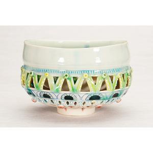 【MG敬】のぐちみか 作『透かし彫り茶碗』MN-F38|mgkei