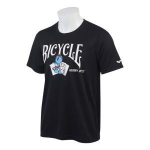 水着ブランド「アリーナ」×「BICYCLE」コラボレーションTシャツ ブラック。  【機能】  吸水...