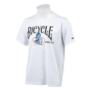 水着ブランド「アリーナ」×「BICYCLE」コラボレーションTシャツ ホワイト。  【機能】  吸水...