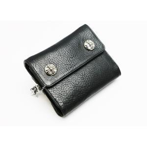 79bd128f0714 新品/クロムハーツ /ウォレット/リルスプーン LIL SPOON/ブラック/折りたたみ財布