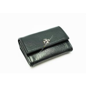 クロムハーツ チェンジパース TINY ブラックレザー 財布 小銭入れ カードケース