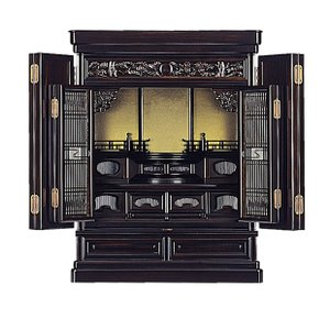 黒檀太陽S型 23号 唐木仏壇(上置) (2201000142)|mgohnoya