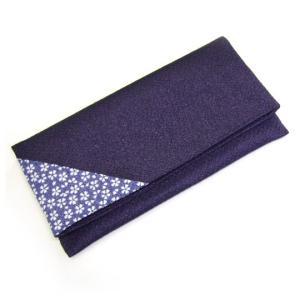 二つ折りお念珠入れ 桜小紋 色:薄紫 念珠入  (2205000502)|mgohnoya