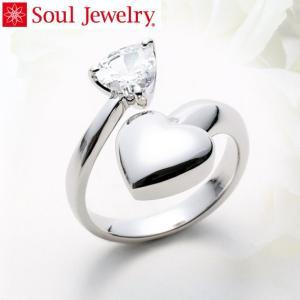 遺骨アクセサリー Soul Jewelry リング ハート 遺骨を納めて身につけられる指輪 (220...