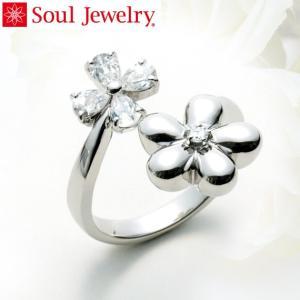 遺骨アクセサリー Soul Jewelry リング フラワー 遺骨を納めて身につけられる指輪 (22...