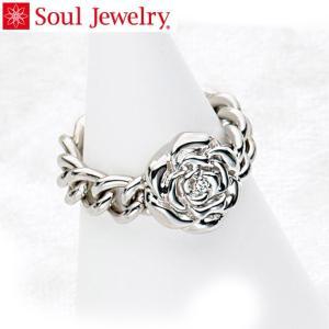 遺骨アクセサリー Soul Jewelry チェーンリング ローズ 遺骨を納めて身につけられる指輪 ...