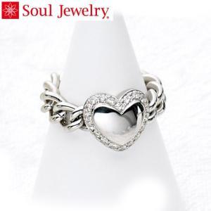 遺骨アクセサリー Soul Jewelry チェーンリング ハート 遺骨を納めて身につけられる指輪 ...