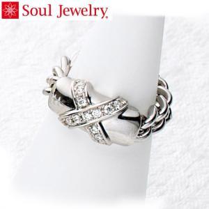 遺骨アクセサリー Soul Jewelry チェーンリング クロス 遺骨を納めて身につけられる 指輪...