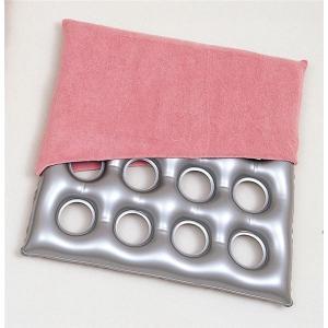 (まとめ)フォーライフメディカル 床ずれ防止用具・体位変換器 エアークッション「タフ」16 タオル地カバー付 6301-7600〔×2セット〕取り寄せ商品
