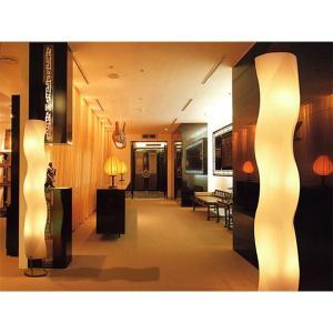 フロアライト(照明器具/スタンドライト) シンプルモダン/波形 〔リビング照明/ダイニング照明/寝室照明〕〔電球別売〕〔代引不可〕