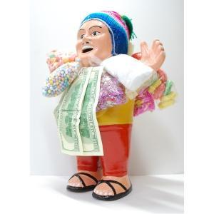 〔特大エケコ人形35cm〕ペルー製「現品・限定」ビッグサイズ...