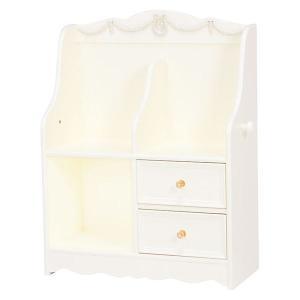 ランドセルラック(子供部屋家具/収納棚) 幅68.5cm 木製 引き出し収納付き ホワイト(白)〔代引不可〕