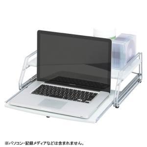 ノートパソコンラック ライトグレー CR-PA20-LGR c27323C|mgshoten
