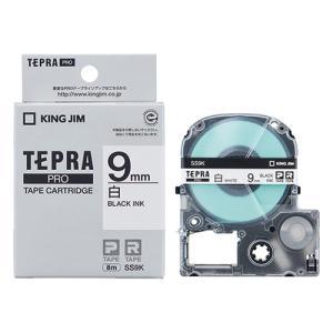 テープ カートリッジ ラベル ライター テプラ PRO キングジム SS9K-20P 白に黒文字 9...