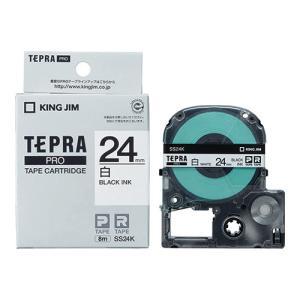 テープ カートリッジ ラベル ライター テプラ  PRO テ−プ キングジム SS24K-20P 白...