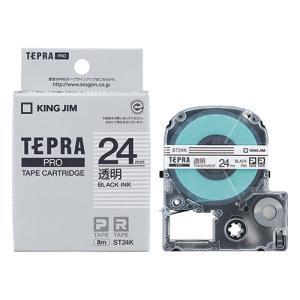 テープ カートリッジ ラベル ライター テプラ  PRO テ−プ キングジム ST24K-20P 透...
