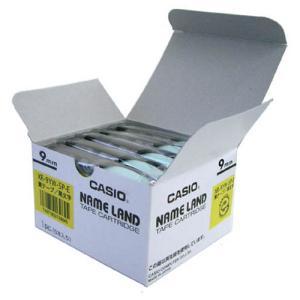 テープ カートリッジ ネーム ランド ラベル ライター カシオ 計算機 XXR-9YW-5P-E 黄...