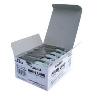 テープ カートリッジ ネーム ランド ラベル ライター カシオ 計算機 XR-12WE-20PE 透...