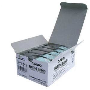 テープ カートリッジ ラベル ライター カシオ計算機 XR-18WE-20P-E ネームランド 白に...