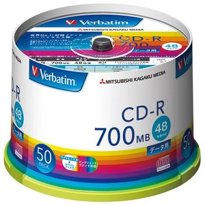 三菱ケミカルメディア CD-R 700MB SR80FP50V1 50枚