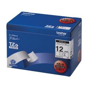 テープ カートリッジ ラベル ライター ピータッチ  ブラザー TZe-231V10 白に黒文字 1...