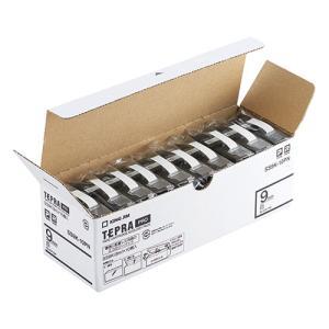 テープ カートリッジ ラベル ライター PRO テープ キングジム SS9K-10PN 白に黒文字 ...