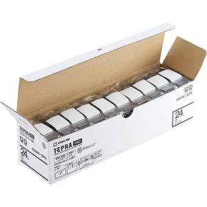 テープ カートリッジラベル ライター PRO テープ キングジム SS24K-10PN 白に黒文字 ...