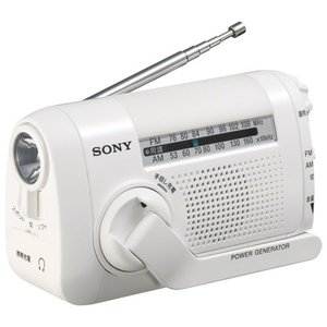 手回し充電ラジオ FM AM2バンド ICF-B09W