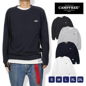 CAMPFREE キャンプフリー スウェットトレーナー メンズ 刺繍 春 秋 冬 グレー ブラック ...