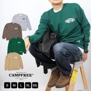 CAMPFREE スウェットトレーナー メンズ スウェット トレーナー ブランド ロゴ スウェット ...