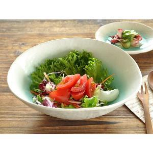 大鉢 食器 おしゃれ 和食器 美濃焼 ボウル 煮物鉢 サラダボウル オーシャントルコブルー楕円型大鉢