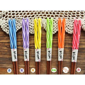 箸 おしゃれ 日本製 カトラリー おはし 木製 天然木 あめ玉ねじり箸(23.0cm)