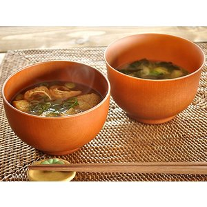 汁椀 おしゃれ 食洗器対応 レンジ対応 和食器 日本製 味噌汁椀 お椀 木目汁椀(ライトブラウン)
