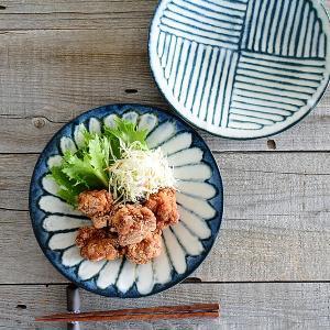 パスタ皿 おしゃれ 和食器 モダン 美濃焼 大皿 令和粉引7.0皿