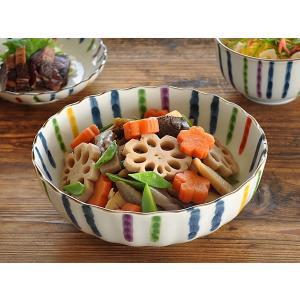 大鉢 食器 おしゃれ 和食器 美濃焼 ボウル 煮物鉢 彩り錦十草菊形6.8ドラ鉢