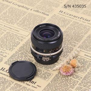 【保証付 】【中古】 オールドレンズ Nikon NIKKOR 35mm f2.8 ニコン Fマウント S/N 393689 (ポーチ付)|mi-na