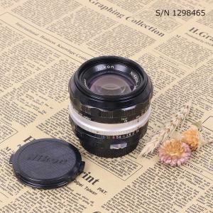 【保証付 】【中古】 オールドレンズ Nikon NIKKOR-S.C Auto 50mm f1.4 ニコン Fマウント S/N 393689 (ポーチ付)|mi-na