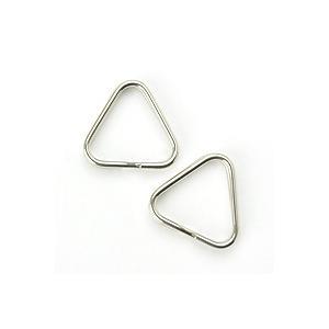 【同梱専用】三角二重リング[一辺12mm]2個セット/シルバー|mi-na