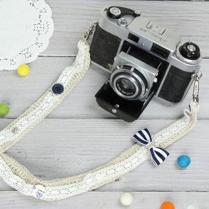 カメラストラップ camera strap 一眼レフ ミラーレス一眼用 リボン|mi-na