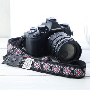 カメラストラップ camera strap 一眼レフ ミラーレス一眼用 チロリアン カレイドスコープスミレ