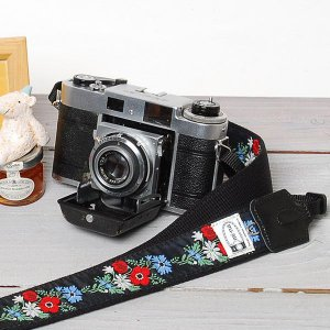 カメラストラップ camera strap 一眼レフ ミラーレス一眼用 カフカリボン フレンチブーケ...