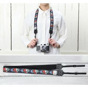 カメラストラップ camera strap 一眼レフ ミラーレス一眼用 カフカリボン フレンチブーケ|mi-na|02