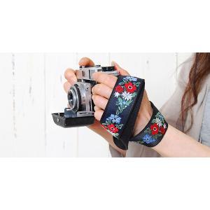 カメラストラップ camera strap 一眼レフ ミラーレス一眼用 カフカリボン フレンチブーケ|mi-na|06