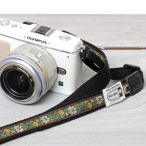 カメラストラップ camera strap 一眼レフ ミラーレス一眼用 チロリアン エーデルワイススモール|mi-na