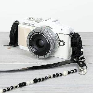 カメラストラップ camera strap 一眼レフ ミラーレス一眼用 ブラックチョコビーンズ mi-na