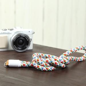 カメラストラップ camera strap 一眼レフ ミラーレス一眼用 ロープストラップ 組紐カメラストラップ 春夏秋冬 mi-na